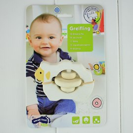 Wooden Baby Grabbing Toy Ringed Sheep