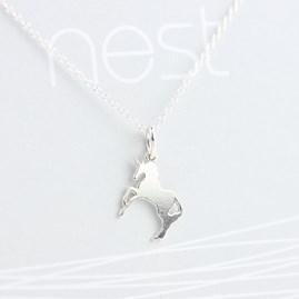 Unicorn Silver Necklace