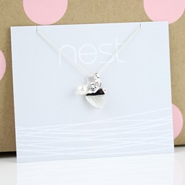 Personalised Child's Love Locket With Freshwater Pearl