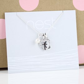 Personalised Child's Silver Christening Cross Pendant