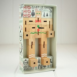 Gingerbread Puzzleman Wooden Puzzle