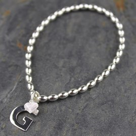 Personalised Silver Bracelet With Silver Or Gold Charms