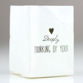 'Deeply Thinking Of You' Tealight Holder