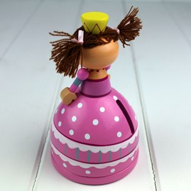 Hand Painted Wooden Princess Moneybox