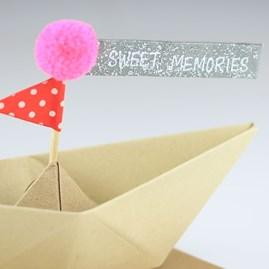 'Congratulations' Origami Boat Greeting Decoration