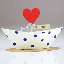'Happy Birthday' Origami Boat Greeting Decoration