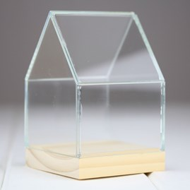 Glass And Pinewood Display House Small