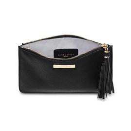 Katie Loxton Personalised Sophia Tassel Pouch In Black