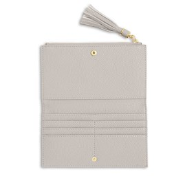 Katie Loxton Personalised Sophia Tassel Fold Out Purse In Stone