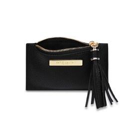 Katie Loxton Sophia Tassel Card Holder In Black