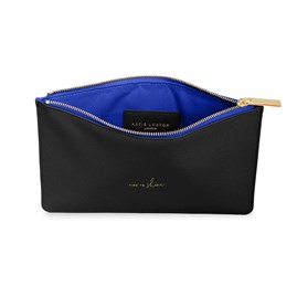 Katie Loxton Personalised Colour Pop Perfect Pouch 'Time To Shine' In Black