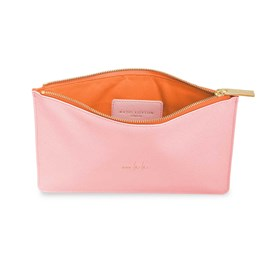 Katie Loxton Personalised Colour Pop Perfect Pouch 'Ooh La La' In Foxglove Pink