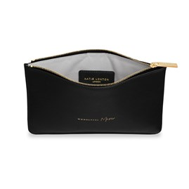 Katie Loxton Personalised 'Wonderful Mum' Perfect Pouch In Black