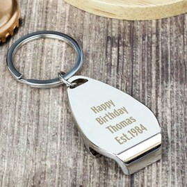Personalised 'Best Daddy Ever' Bottle Opener Keyring