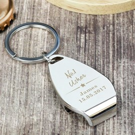 Personalised 'No. One' Bottle Opener Keyring