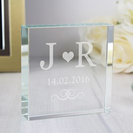 Personalised Wedding Monogram Message Block