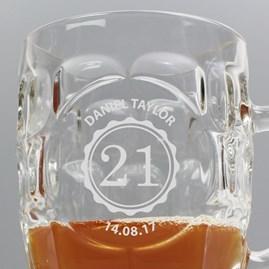 Personalised Monogram Dimple Pint Glass Tankard