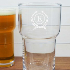 Monogrammed LSA Pint Glass