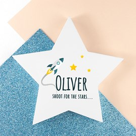 Personalised 'Rocket To The Stars' Keepsake Star