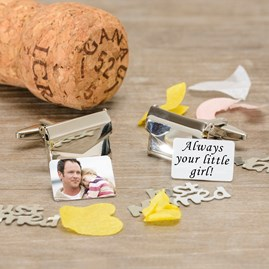 Personalised Envelope Picture And Message Cufflinks