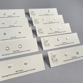 Sterling Silver Mini Moon And Star Stud Earrings