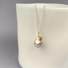 Personalised Silver Pear Pendant
