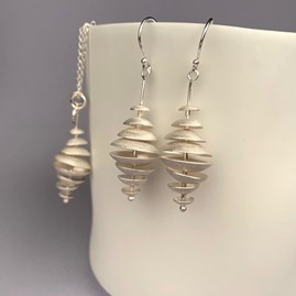 Solid Silver Topsy Turvy Earrings