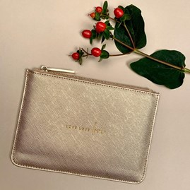 Katie Loxton Personalised  'Love Love Love' Perfect Pouch Gift Set