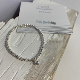 '13th Birthday' Beaded Charm Bracelet