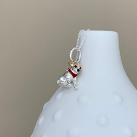 Personalised Jack Russell Dog Necklace