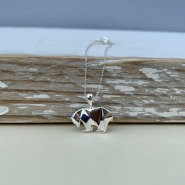 Sterling Silver Origami Polar Bear Earrings