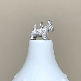 Personalised Silver Scottie Dog Charm Necklace