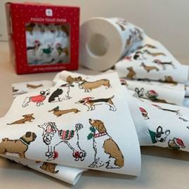 Christmas Dog Toilet Roll