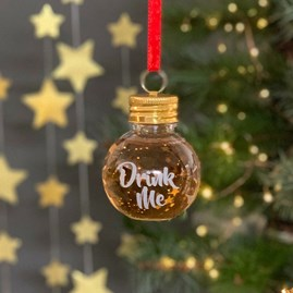 'Drink Me' Hanging Festive Boozeball
