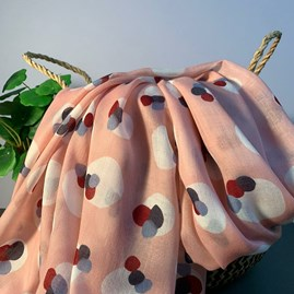 Painted Splodges Scarf In Pink