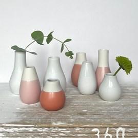 Mini Glazed Vases Set of 4 Red Tones