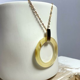 Metal And Resin Pendant Necklace
