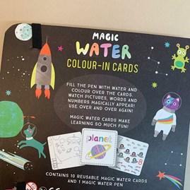 Space Magic Water Colour-In Cards