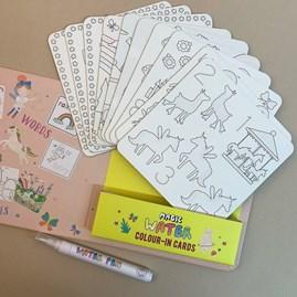 Rainbow Fairy Magic Water Colour-In Cards