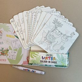 Jungle Magic Water Colour-In Cards