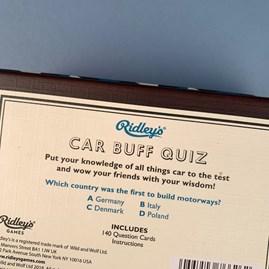 Car Buff Trivia Quiz Game
