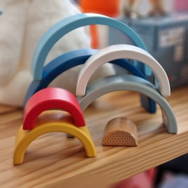 Wooden Rainbow Stacking Arches Toy