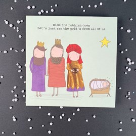'Hide The Rubbish Ones...' Pack Of 8 Christmas Cards