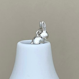 Personalised Sterling Silver Bunny Rabbit Necklace