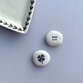 Porcelain Sentiment Pebble