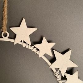 White Constellation Wreath Decoration