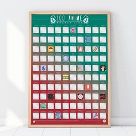 100 Anime Bucket List Poster