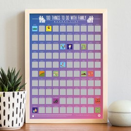 100 Things To Do With Family Bucket List Poster