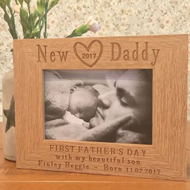 Personalised New Daddy Father's Day Frame