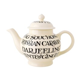 Emma Bridgewater Black Toast All Over 4 Mug Teapot
